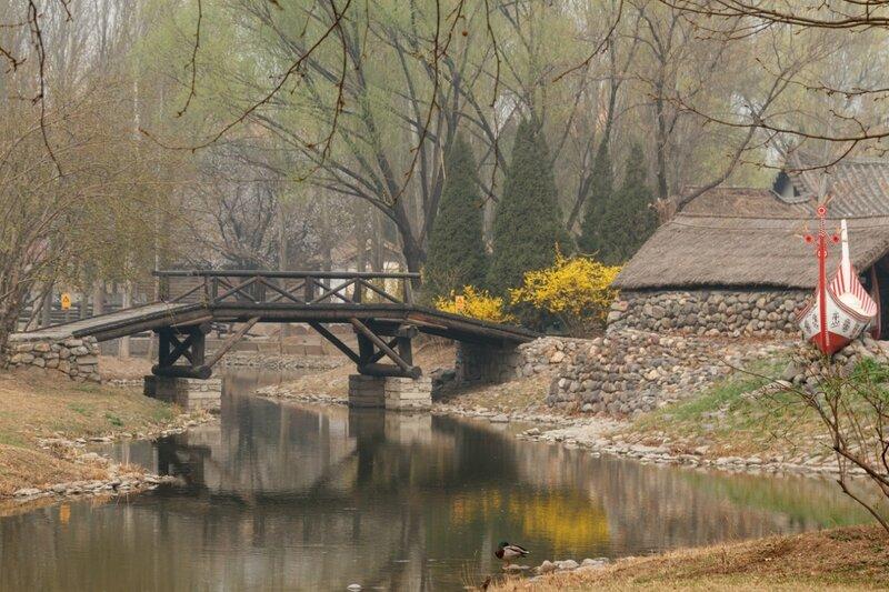 Мост и лодка, Парк национальностей, Пекин