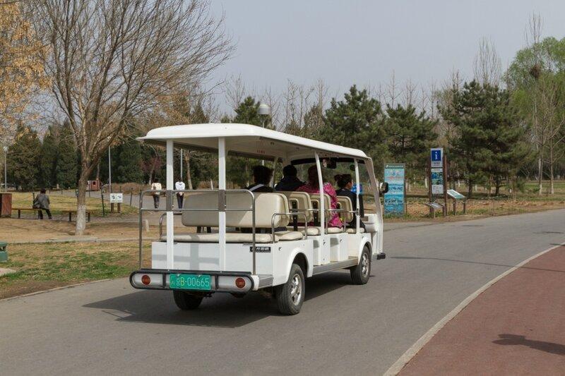Автобус в парке