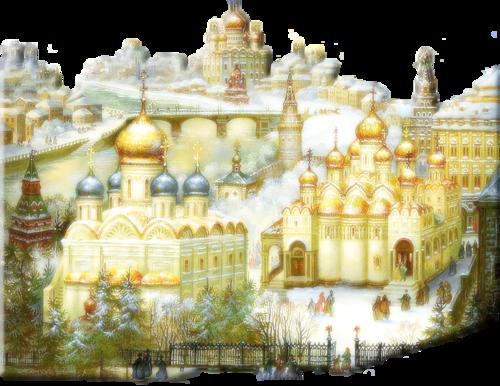 Купола России-федоскинская миниатюра