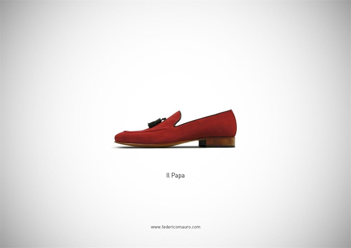 Знаменитая обувь культовых персонажей / Famous Shoes by Federico Mauro - The Pope