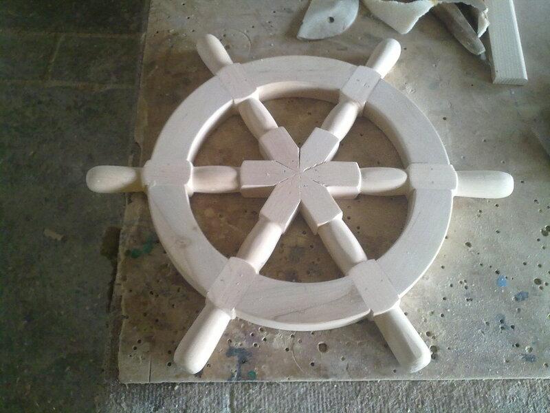 Штурвал для корабля своими руками 13