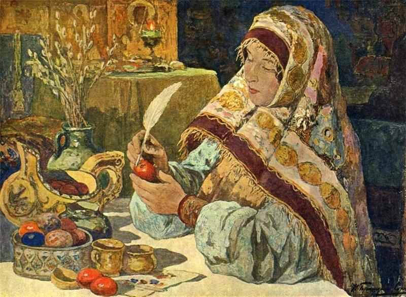 Горюшкин-Сорокопудов И., Канун Пасхи в старину.