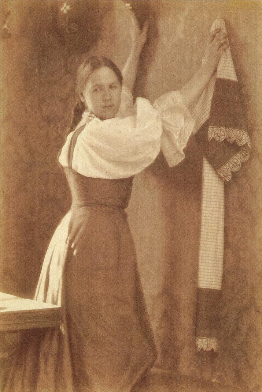 Девушка с полотенцем.