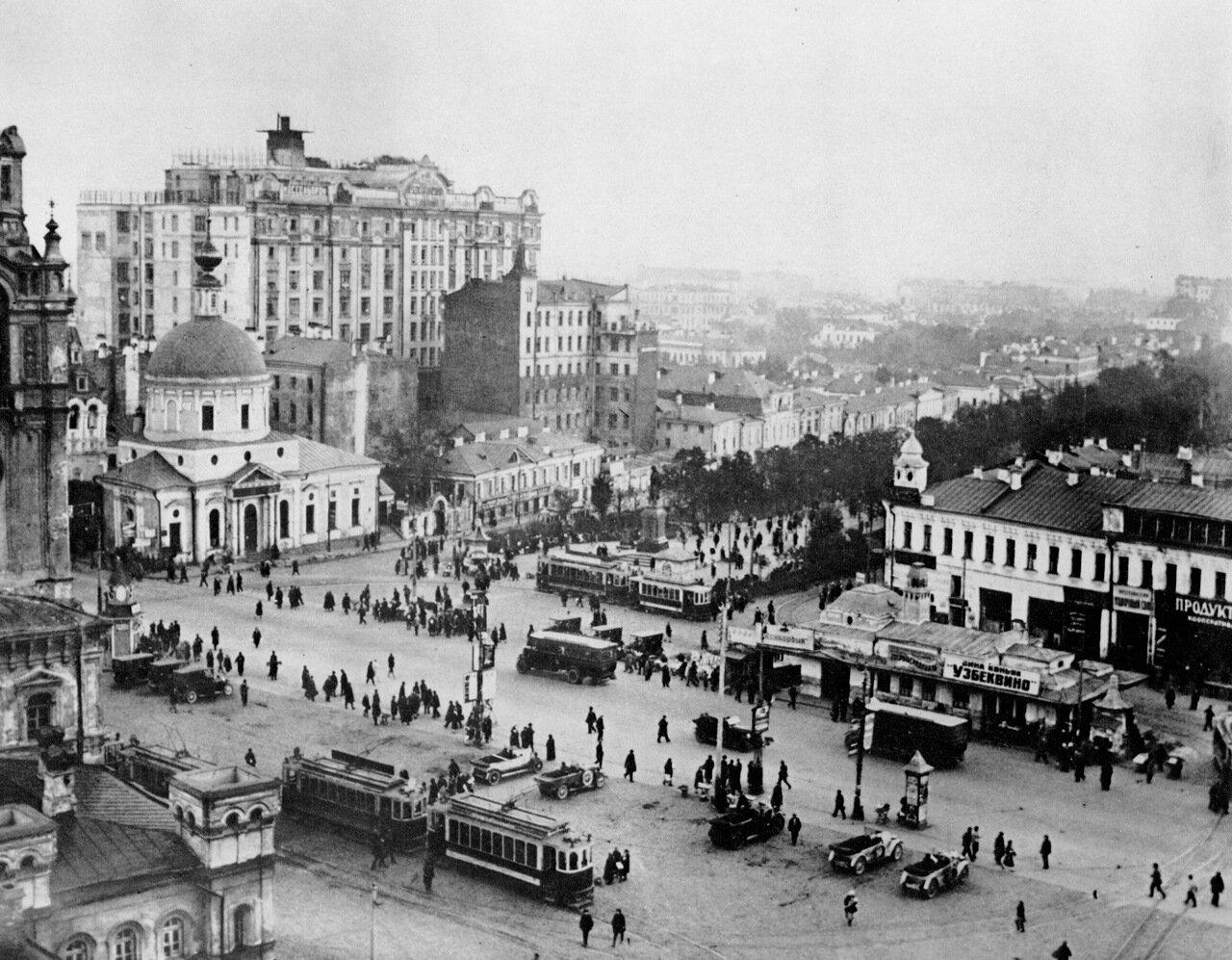 Москва. Площадь Пушкина. 20-е годы.