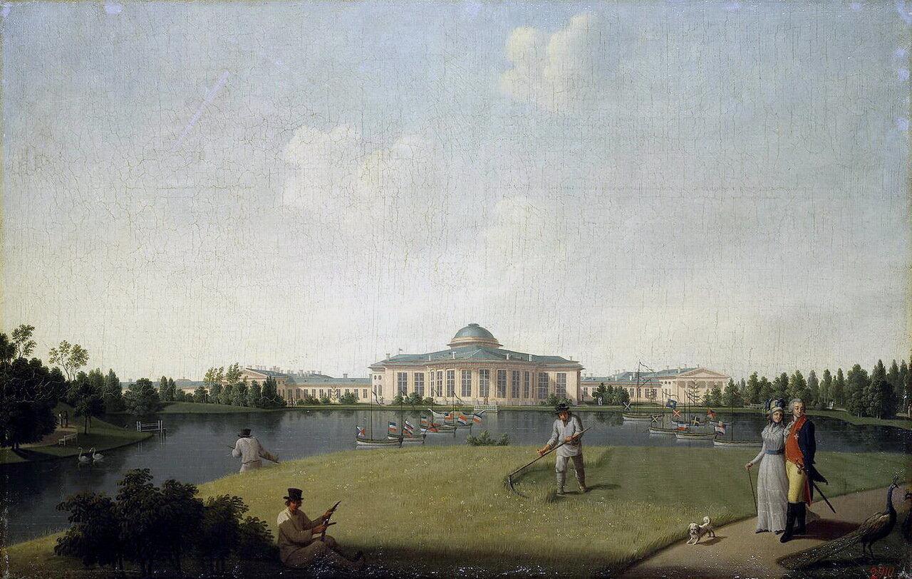 Вид Таврического дворца со стороны сада