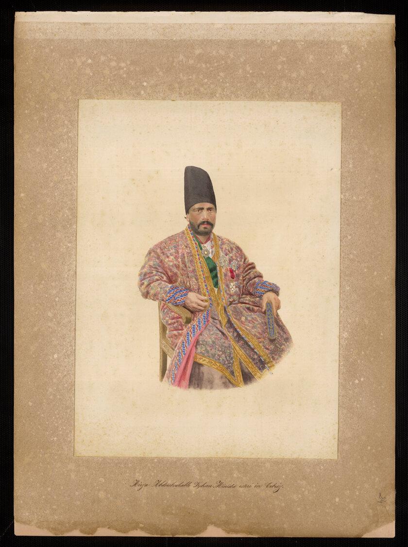 Персия. Мирза Хан Абдул Венабиль, министр иностранных дел