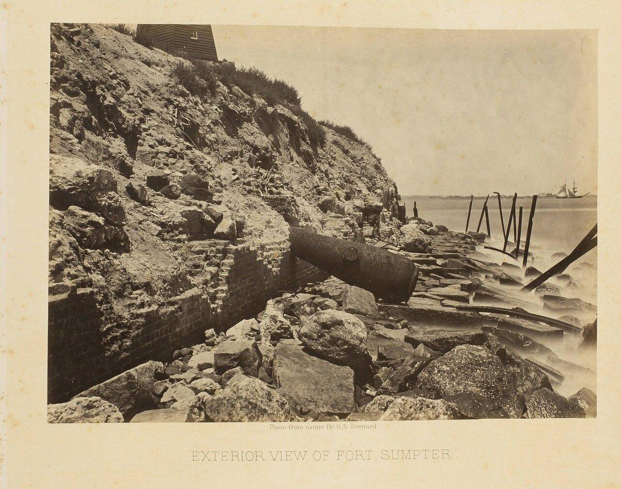 Вид форта Самтер около города Чарльстон, Южная Каролина
