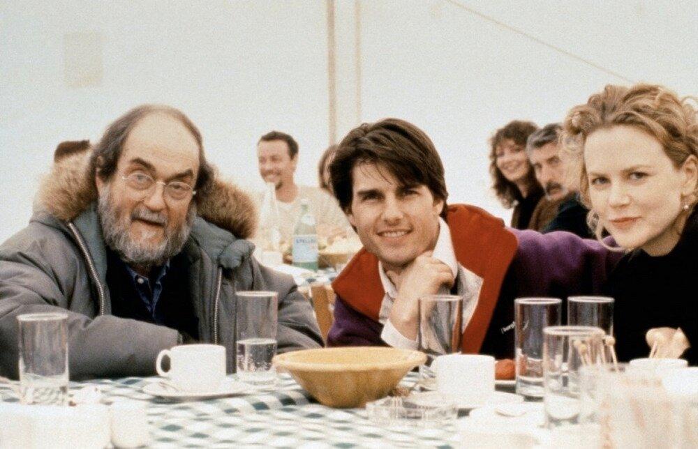 1999. Стэнли Кубрик, Том Круз и Николь Кидман во время съемок фильма «Широко закрытые глаза»
