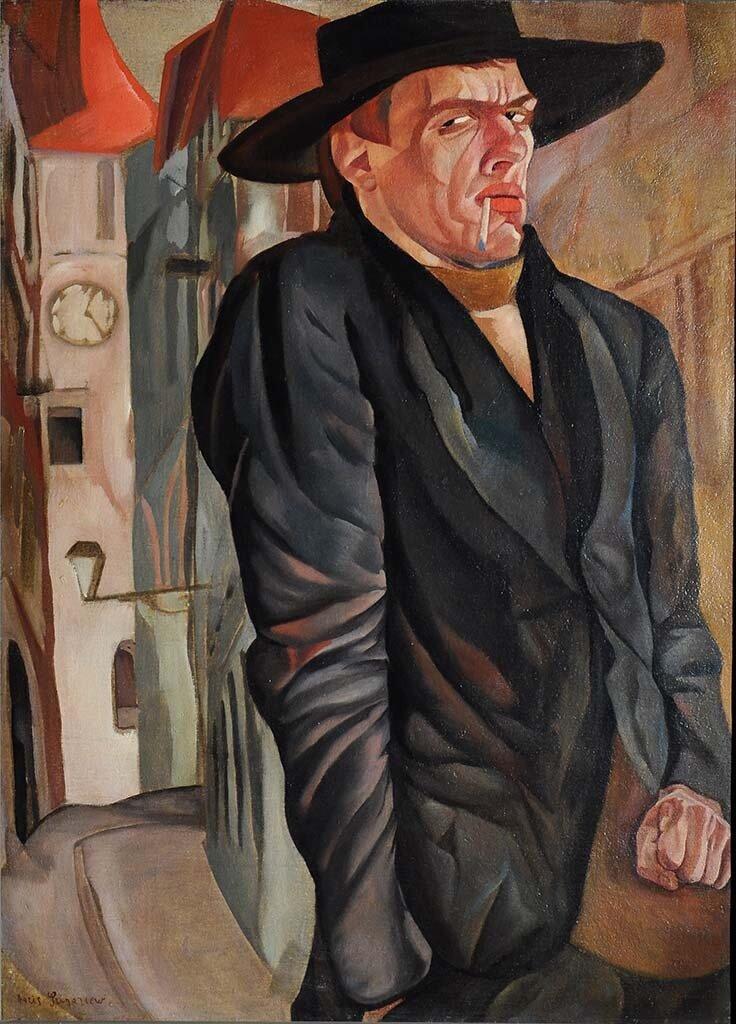 Автопортрет, 1916, Григорьев, Борис Дмитриевич(1886-1939);
