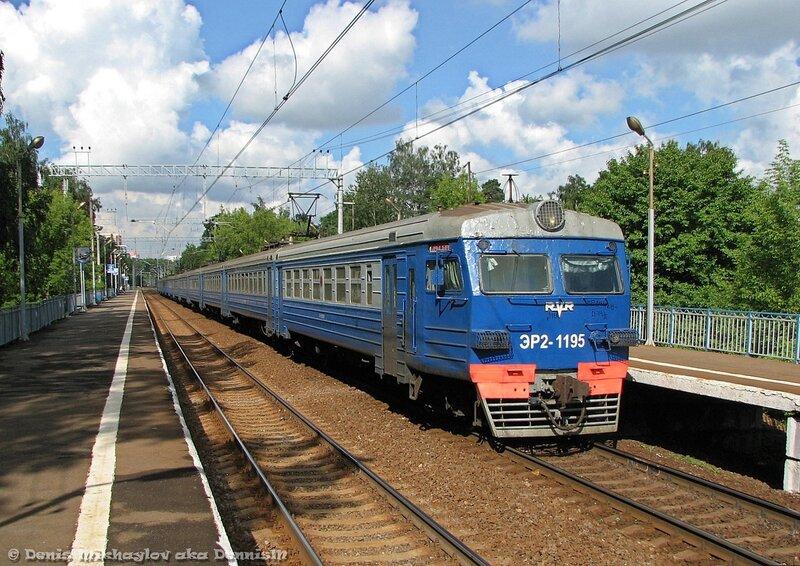 Электропоезд ЭР2-1195, о.п. Валентиновка.