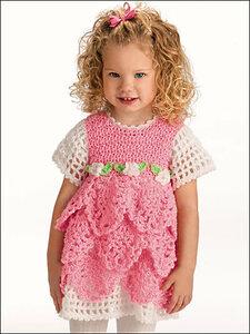 Воспоминание о лете: розовое платье крючком