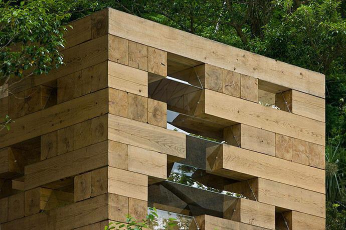 Сборный дом из кедровых блоков