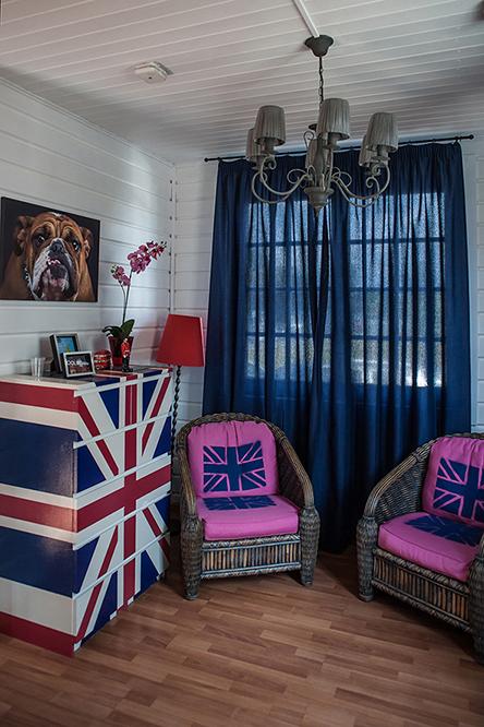 интерьеры демонстрационного дома в британском стиле