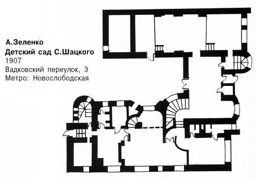 Детский сад С. Шацкого в Москве, план