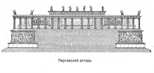 Пергамский алтарь, фасад