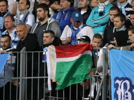 Фанаты Зенита вчера сожгли флаг Чечни