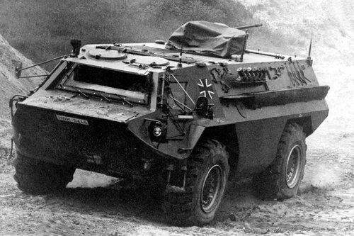 Amphibische Pionier Erkundungsfahrzeug