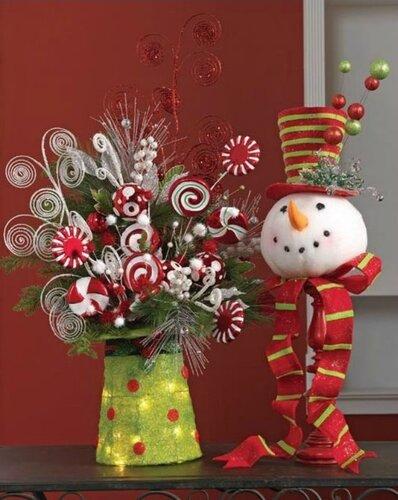 Использование пенопластовых шаров для новогоднего декора