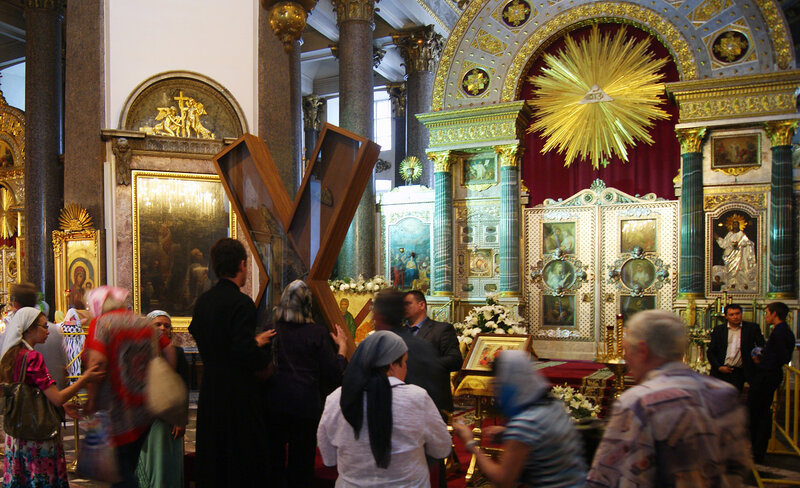 Крест святого апостола Андрея первозванного в Казанском соборе
