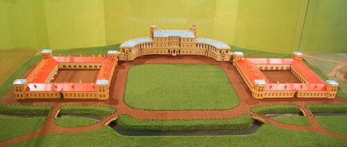 Макет Гатчинского дворца (первоначальный вид - до 1796 года)
