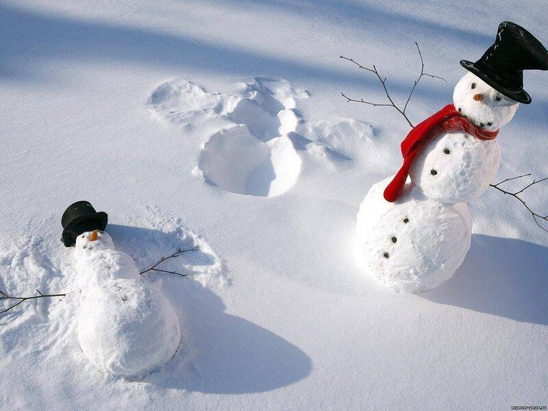 Снеговик на сноуборде  № 3290201  скачать