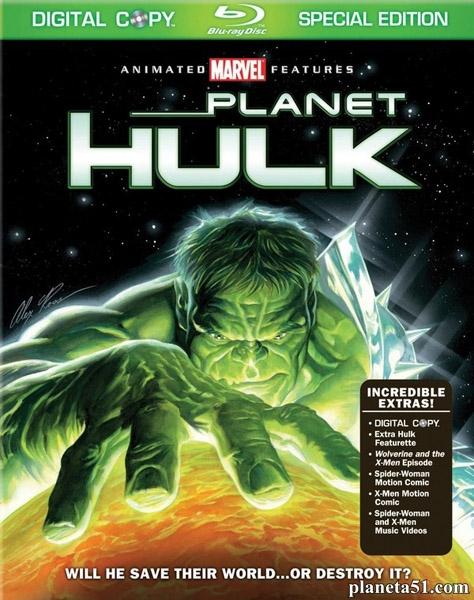 Планета Халка / Planet Hulk (2010/HDRip)