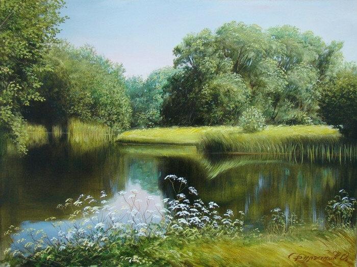Всё полно в округе благостным покоем, величав, безбрежен тут речной простор! Булгаков Олег Алексеевич