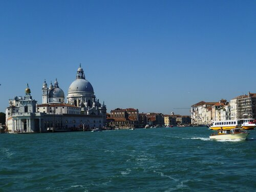 Италия. Венеция. Начало Гранд канала. (Italy. Venice. Grand Canal)