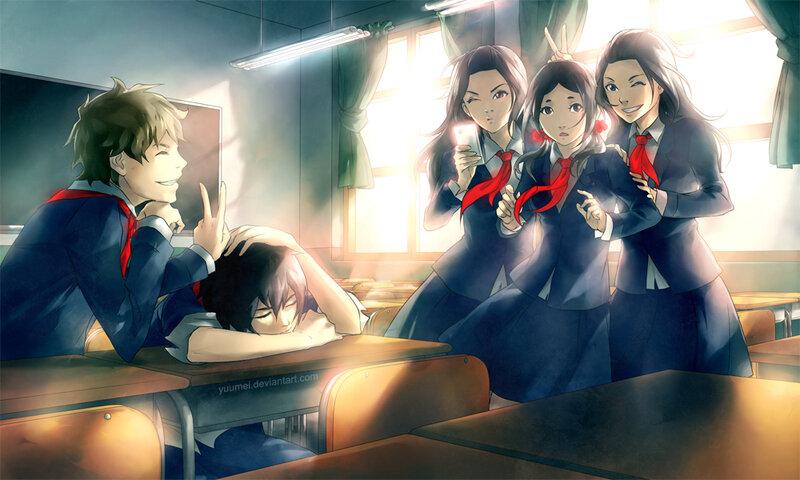 картинки про аниме про школу и любовь