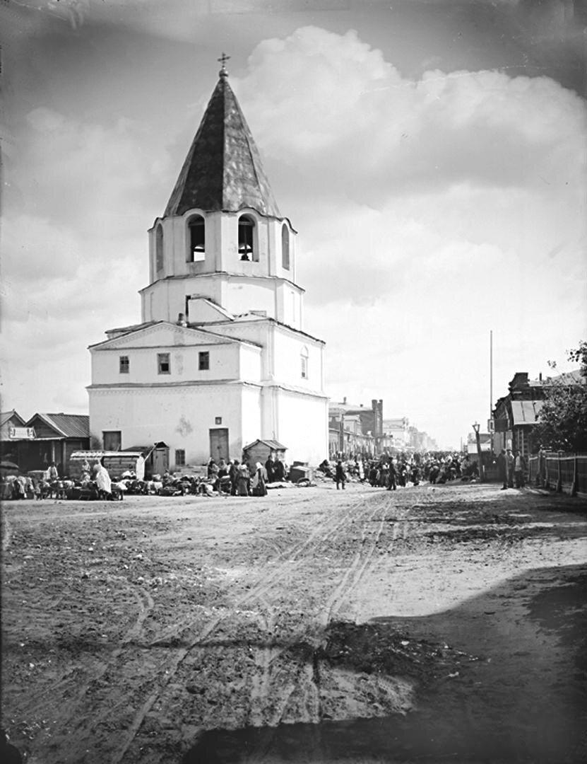 Спасская башня (Кремль) в городе Сызрани