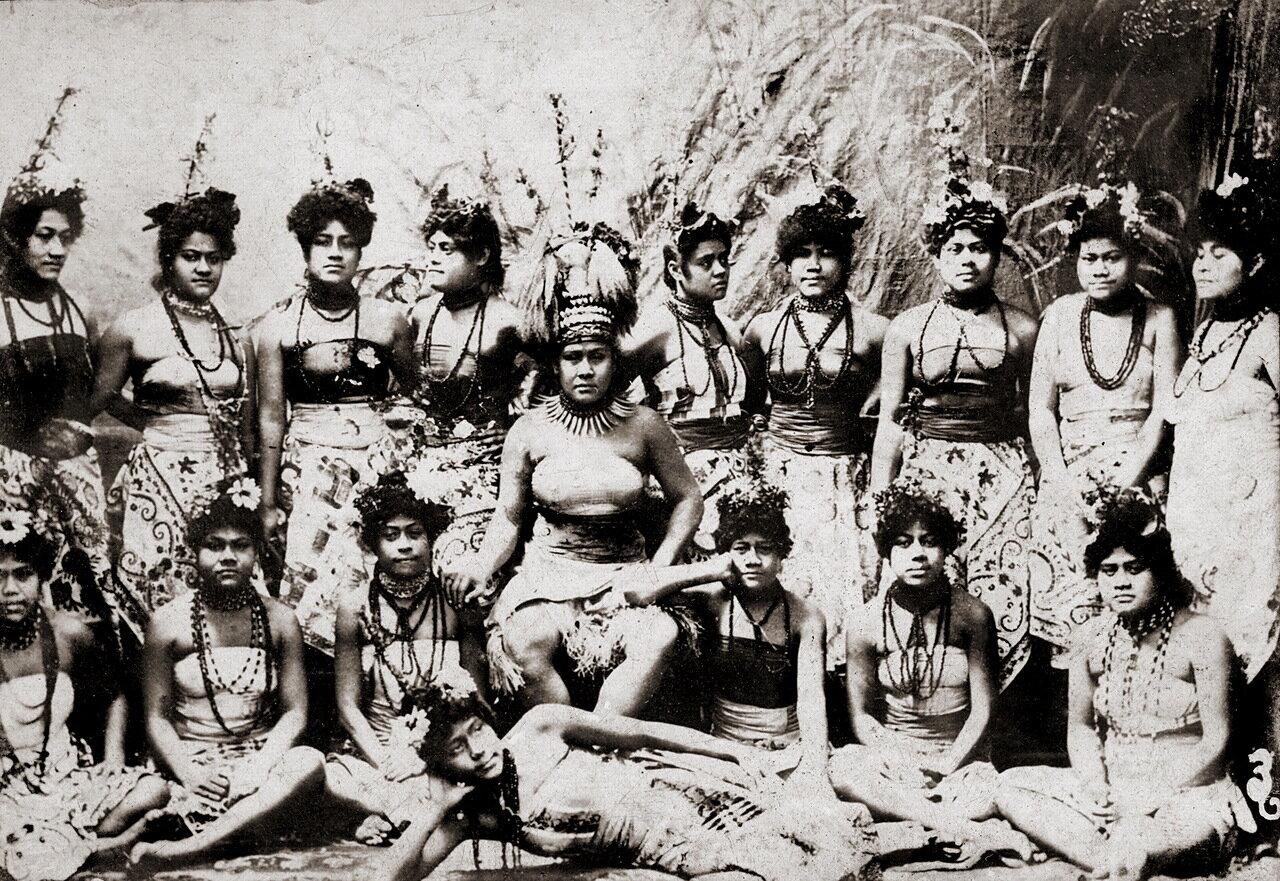 Деревенские жители (Самоа, 1900)