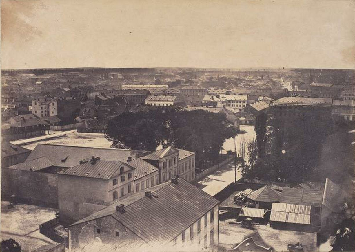 Вид с крыши Евангелической Церкви. 1858