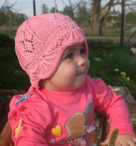 Вязание летние шапочки на девочек спицами