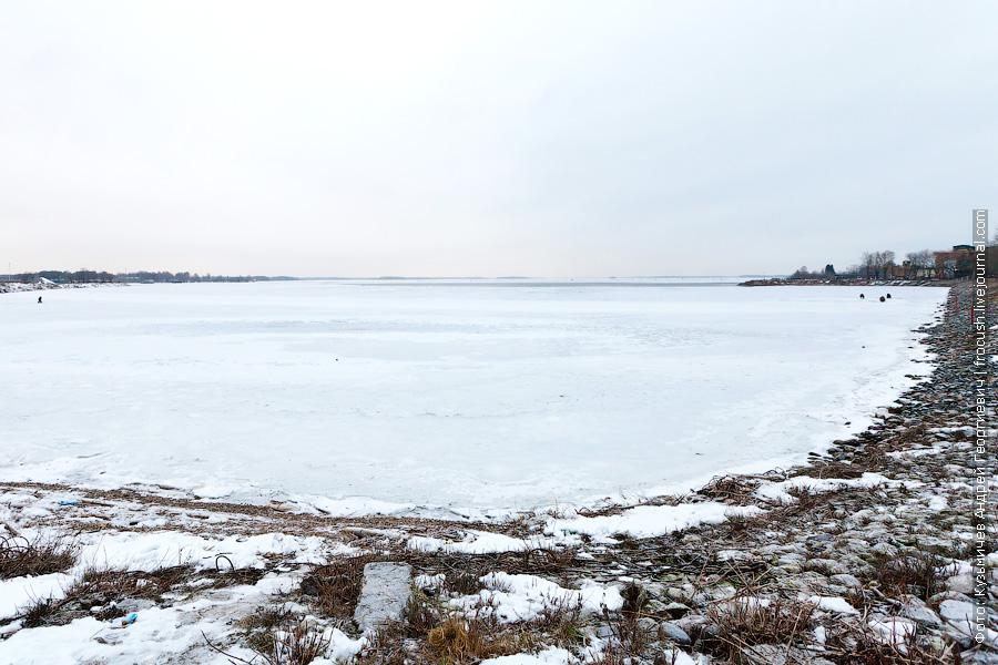 замерзшее Московское море