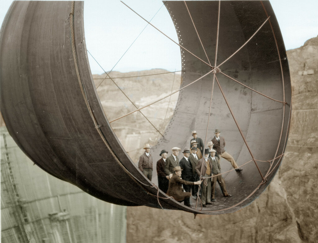 Hoover Dam Turbine Construction, early 1930s
