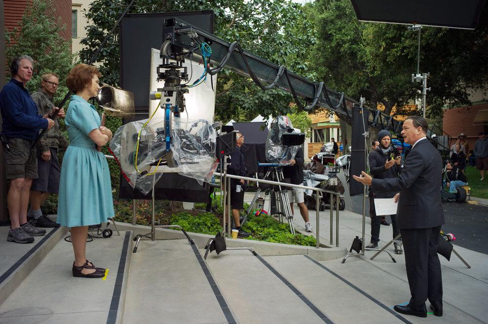 """""""SAVING MR. BANKS""""Kathy Baker, left; Tom Hanks, rightPh: François Duhamel©Disney Enterprises, Inc.  All Rights Reserved."""