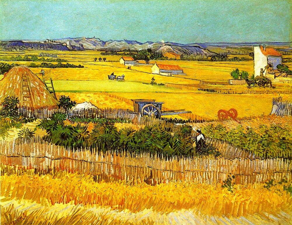 Винсент Ван Гог. Жатва, 1888 год.