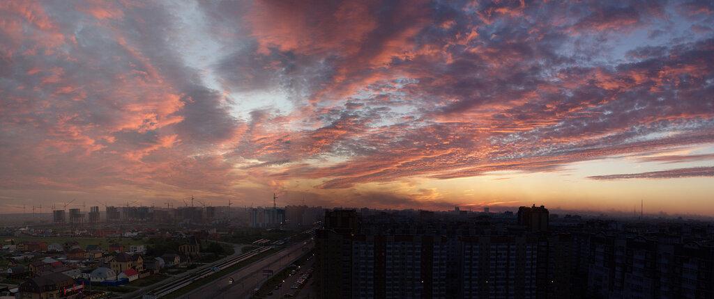Панорама над городом Тюмень