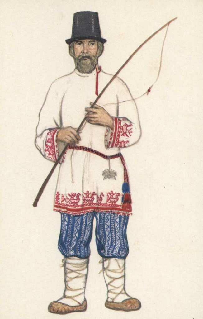 положить миску, русский национальный мужской костюм картинки производят
