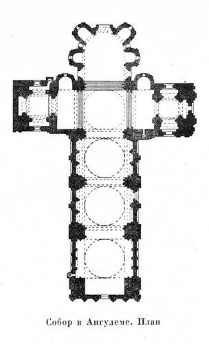Собор в Ангулеме, план