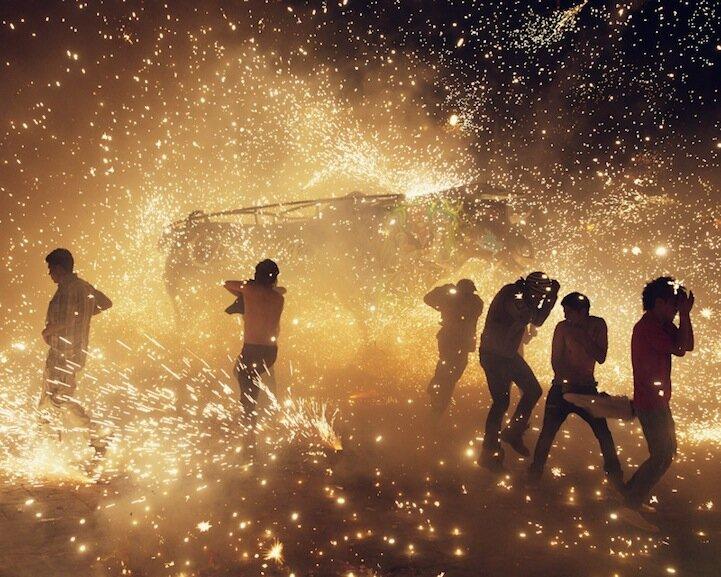 Фестиваль фейерверков в Мексике