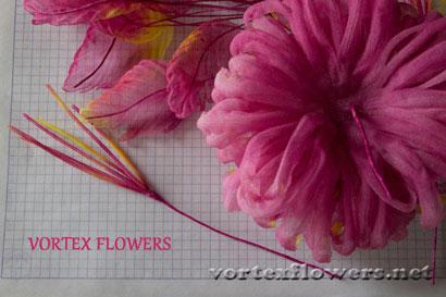 Хризантема из ткани. Бесплатный мастер-класс.