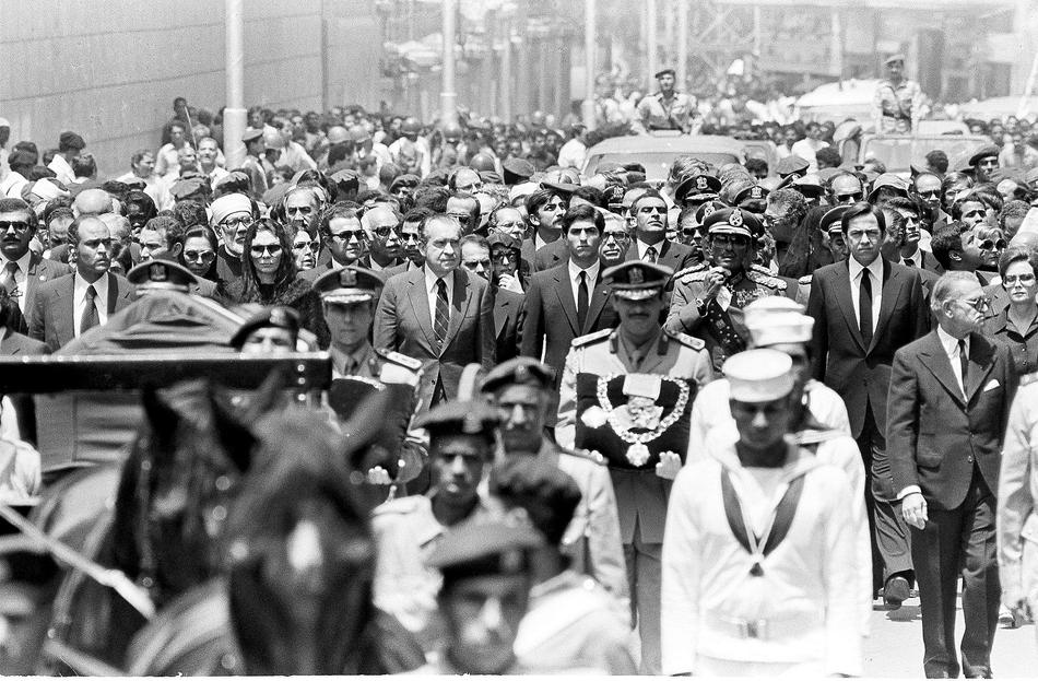 SHAH OF IRAN FUNERAL 1980