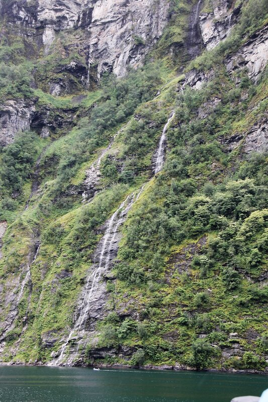 Geirangerfjord, the waterfall