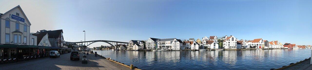Хаугесунд. Набережная Смедасундет(Smedasundet), panorama