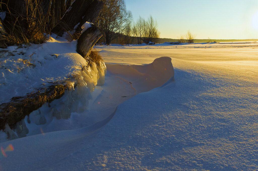 Снежные дюны. Съемка пейзажа на фотокамеру Nikon D5100 и универсальный зум-объектив Nikon 17-55mm f/2.8G.