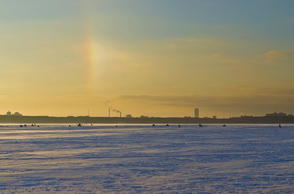 Зимняя радуга. Фотографируем пейзаж на Никон Д5100 и репортажный зум Никон 17-55/2,8.
