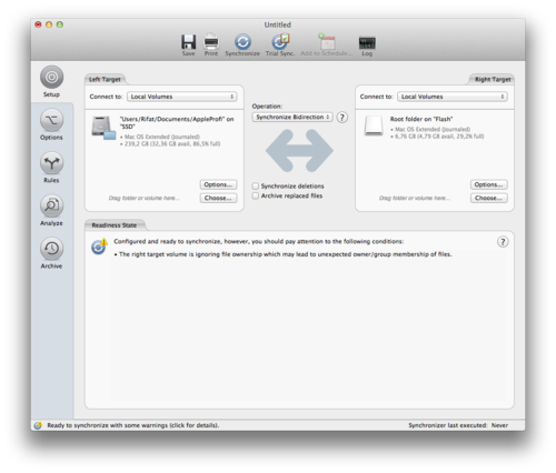 синхронизация папок mac