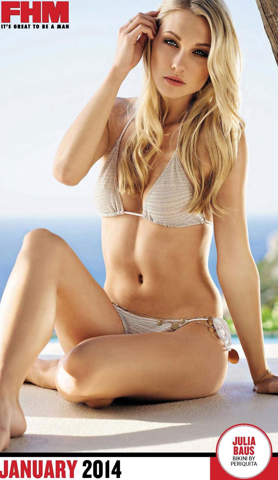 Сексуальные девушки в календаре журнала FHM South Africa 2014 - Julia Baus