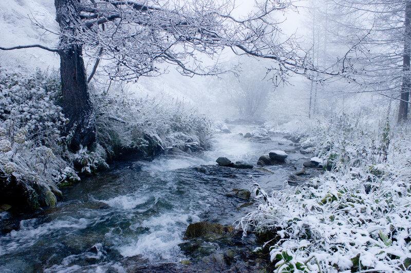 Верхняя Теректы в снегах и туманах
